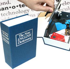 Χρηματοκιβώτιο - Book Safe Μπλε 18 x 11,5 x 5.5 εκ