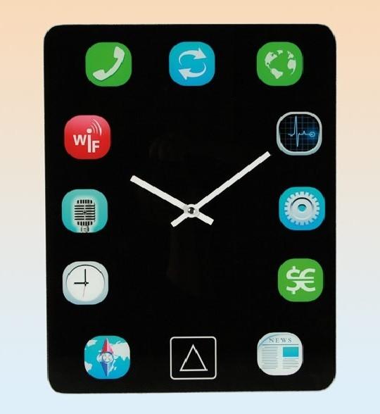 Ρολόι Τοίχου σε Σχήμα Pad