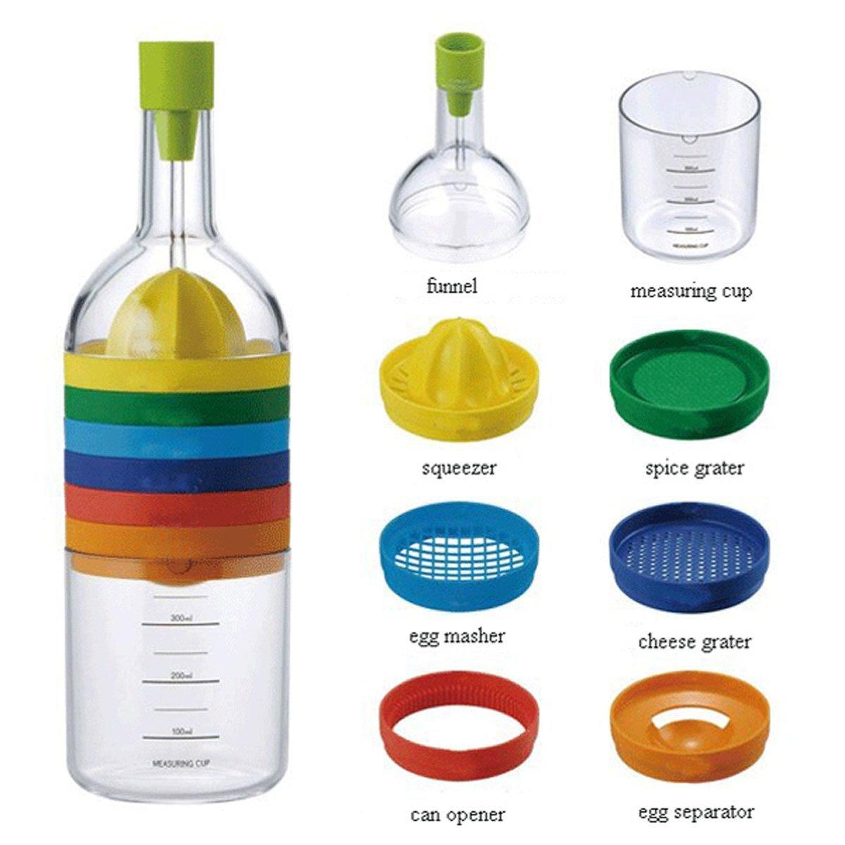 Πολυεργαλείο Κουζίνας με 8 Εξαρτήματα σε σχήμα Μπουκάλι
