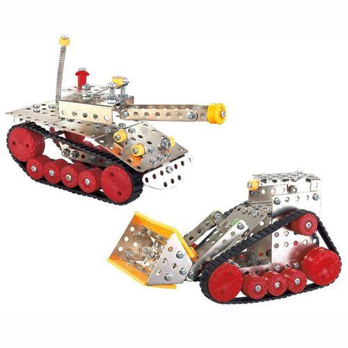 Σετ Συναρμολογούμενων Οχημάτων Nuts & Bolts Μπουλντόζα και Άρμα Μάχης
