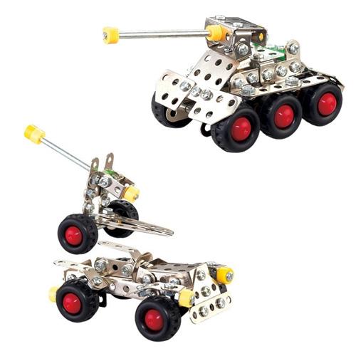 Σετ Συναρμολογούμενων Οχημάτων Nuts & Bolts Τάνκ και Αμάξι με Τρείλερ Κανόνι