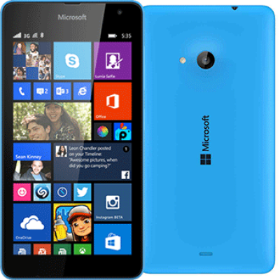 Microsoft 535 Lumia 8GB Blue EU (Δώρο Tempered Glass + Θήκη)