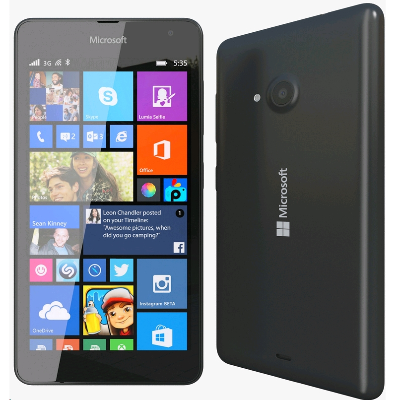 Microsoft 535 Lumia Dual 8GB Black EU (Δώρο Tempered Glass + Θήκη)