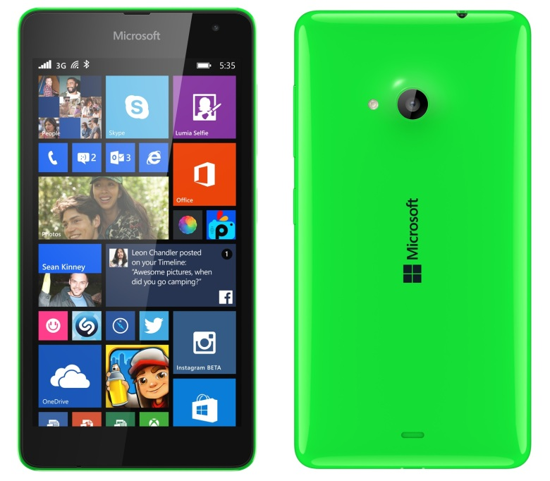 Microsoft 535 Lumia Dual 8GB Green EU (Δώρο Tempered Glass + Θήκη)