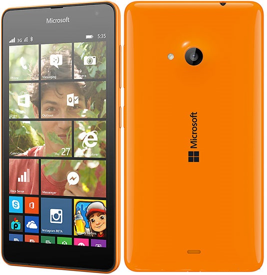 Microsoft 535 Lumia Dual 8GB Orange EU (Δώρο Tempered Glass + Θήκη)