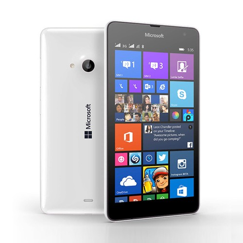 Microsoft 535 Lumia Dual 8GB White EU (Δώρο Tempered Glass + Θήκη)