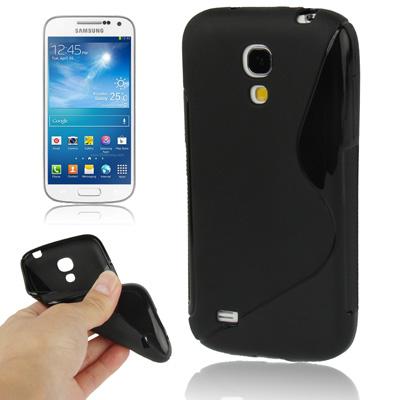 Ελαστική Anti Skid TPU Θήκη Samsung Galaxy S4 mini - Μαύρη