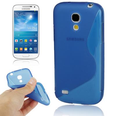Ελαστική Anti Skid TPU Θήκη Samsung Galaxy S4 mini - Μπλε