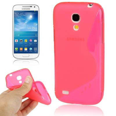 Ελαστική Anti Skid TPU Θήκη Samsung Galaxy S4 mini - Ροζ