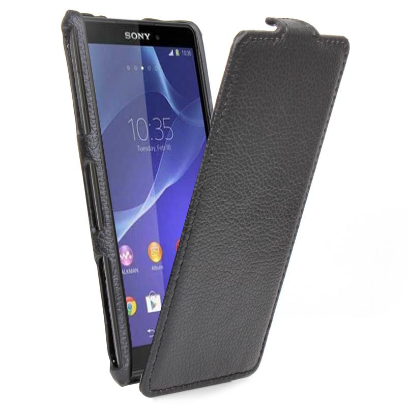 Δερμάτινη Θήκη Sony Xperia Z3 Compact - Μαύρη