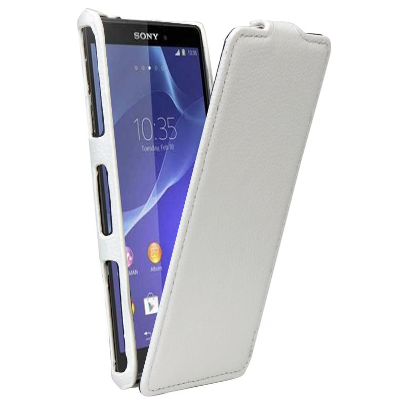 Δερμάτινη Θήκη Sony Xperia Z3 Compact - Λευκή