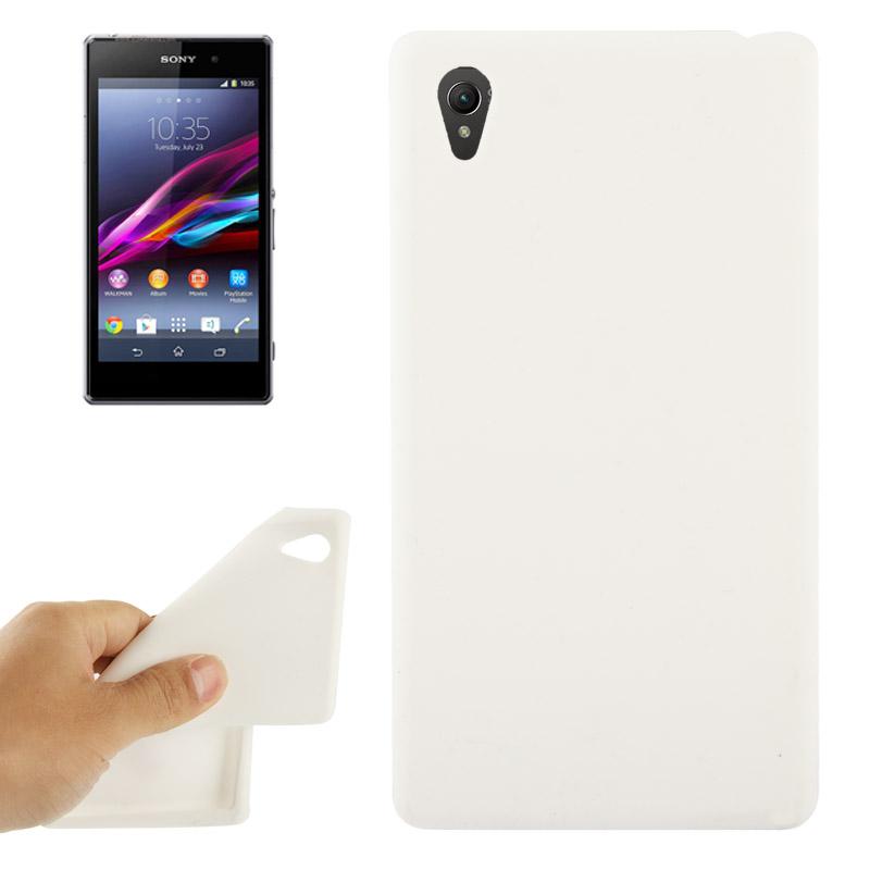 Θήκη Σιλικόνης Sony Xperia Z1 - Λευκή