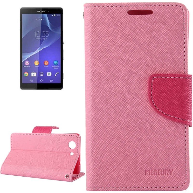 Θήκη Πορτοφόλι Mercury Sony Xperia Z3 Compact - Ροζ