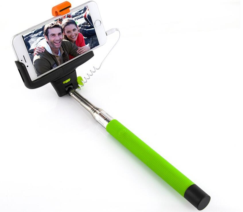 Πτυσόμενος Μονόποδας με Καλώδιο για Selfies Φωτογραφίες Πράσινο OEM