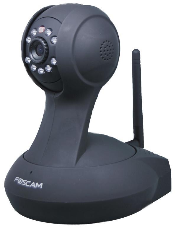 Foscam FI8916W: Έγχρωμη Ρομποτική IP Κάμερα, WiFi/Ethernet, Pan/Tilt, Νυχτερινή Λήψη (IR) έως 8μ. – Pan/Tilt IP Camera Μαύρη