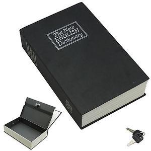 Χρηματοκιβώτιο - Book Safe Μαύρο 18 x 11,5 x 5.5 εκ