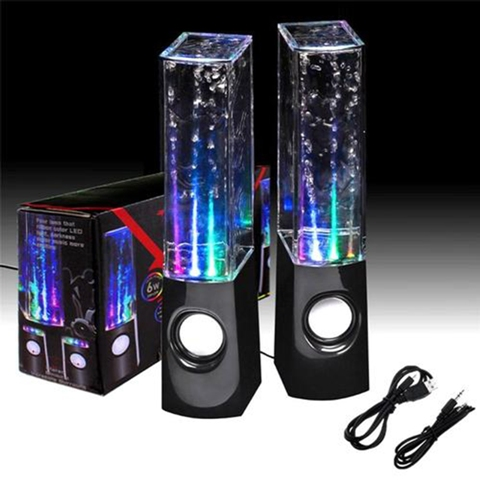 Ηχεία Νερού - Dancing Water Speakers 6W Μαύρα OEM 301