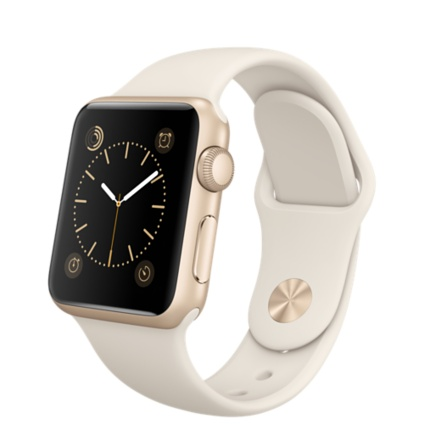 Apple Watch 38mm Gold Aluminium Case with Antique White Sport Band MLCJ2FD/A EU