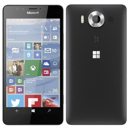 Microsoft Lumia 950 Dual 4G 32GB Black EU (Δώρο Tempered Glass)