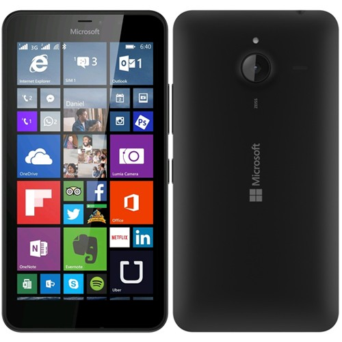 Microsoft Lumia 640 XL Dual Black EU (Δώρο Tempered Glass + Θήκη)