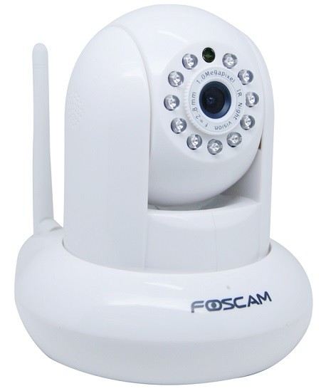 Foscam FI9821P: Έγχρωμη Ρομποτική IP κάμερα, HD 720p Λευκή