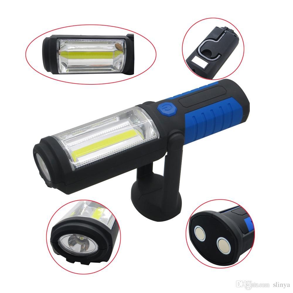 Φακός COB LED με Μαγνήτη και Γάντζο