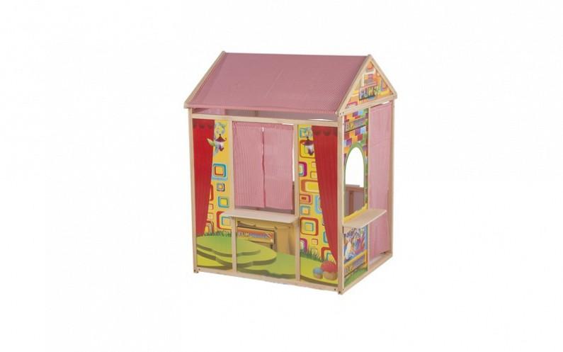 Ξύλινο Παιδικό Σπιτάκι Κουκλοθέατρο, Marionette Wooden Toys Cb 56388