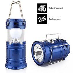Φακός & Ηλιακή λάμπα camping 6 LED & Powerbank HS-8278