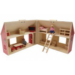 Ξύλινο Παιχνίδι Δραστηριοτήτων Κουκλόσπιτο Marionette Wooden Toys 56472