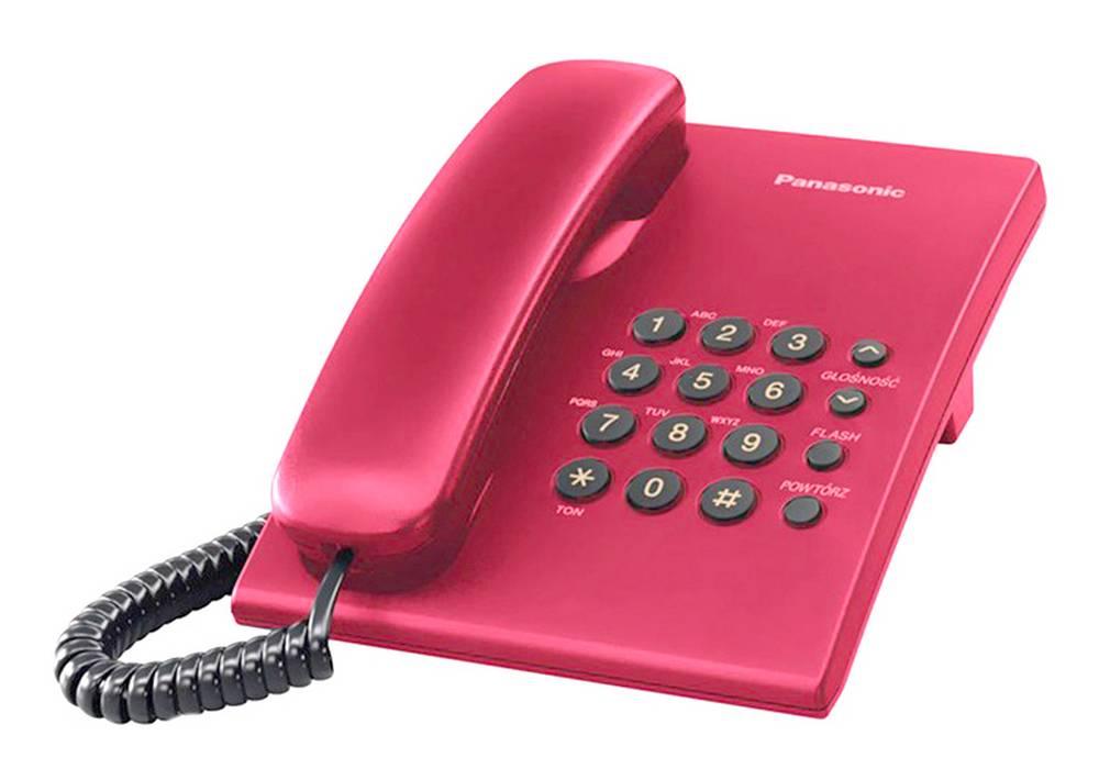 Σταθερό Ψηφιακό Τηλέφωνο Panasonic KX-TS500FXR Κόκκινο