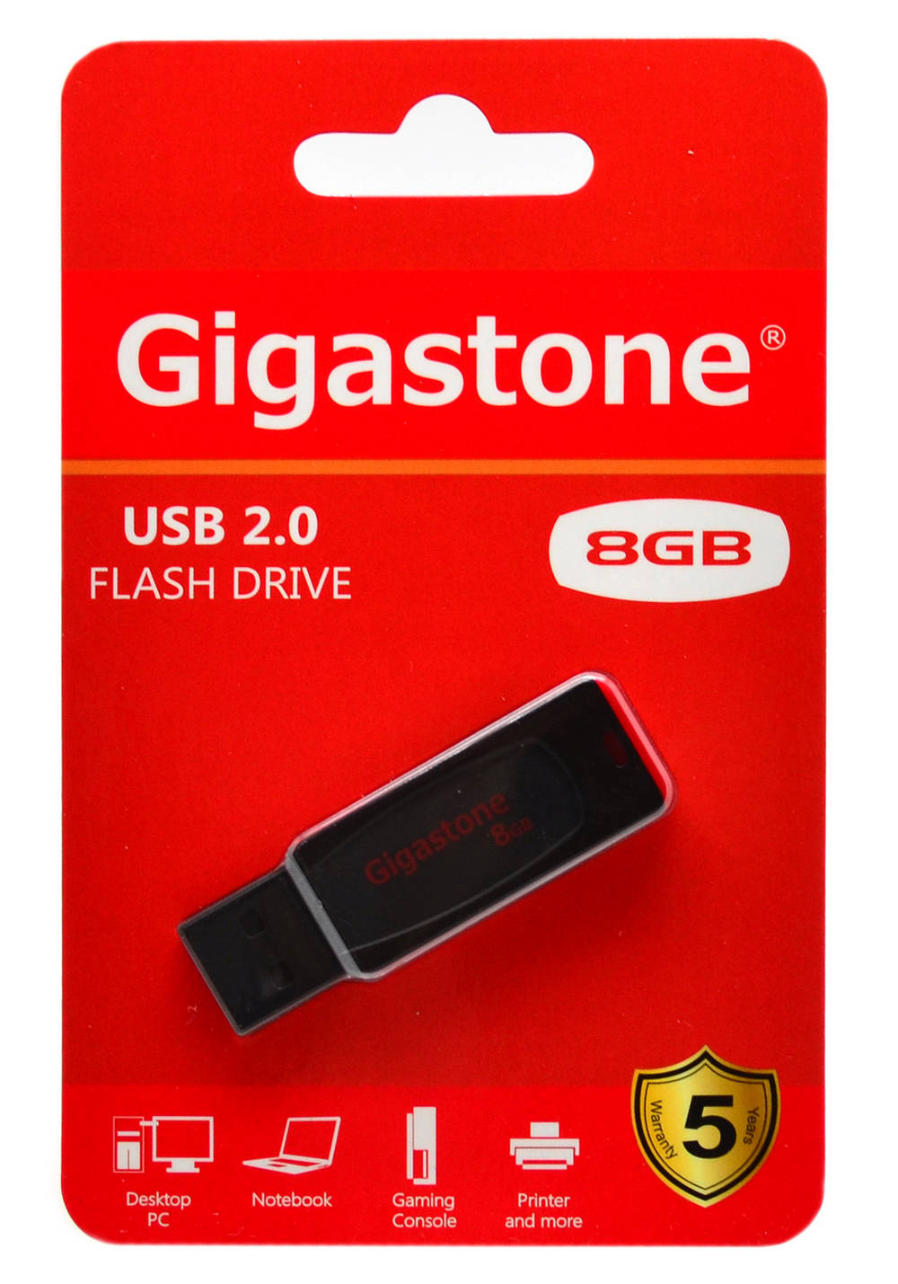 USB 2.0 Gigastone Flash Drive U201 Traveler 8GB