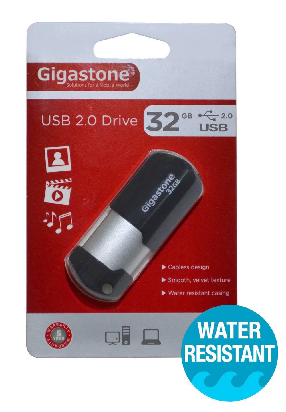 USB 2.0 Gigastone Flash Drive U207 32GB Μαύρο Professional Series Velvet Frame