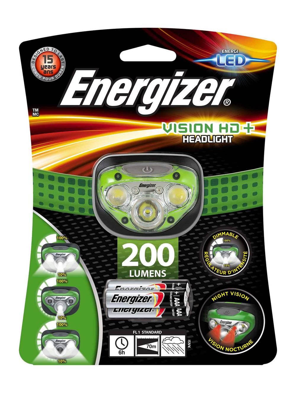 Φακός Κεφαλής Energizer Vision HD+ 3 Led 225 Lumens με Μπαταρίες AAA 3 Τεμ. Πράσινο