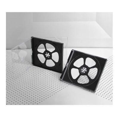 Πλαστική θήκη κανονική για 4 CD/DVD σε διάφανο/μαύρο χρώμα - UNBRANDED 1467