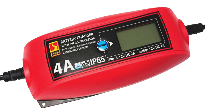 SENA Ψηφιακός φορτιστής μπαταριών οχημάτων 010303, 6V/12V, 2A/4A - SENA 43013