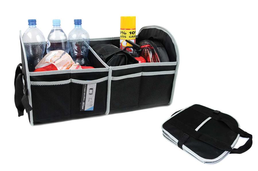 AMIO Θήκη οργάνωσης αυτοκινήτου 01118 με velcro, 55 x 31 x 30cm, μαύρη - AMIO 31108