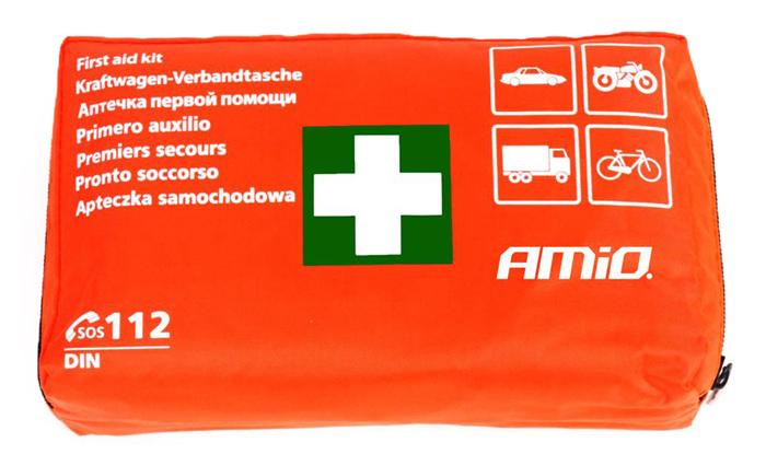 AMIO Σετ πρώτων βοηθειών 01691 για οχήματα, 44 τεμαχίων - AMIO 28921