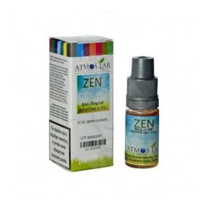 ATMOS LAB υγρό ατμίσματος Zen, Balanced, 6mg νικοτίνη, 10ml - ATMOS LAB 14289