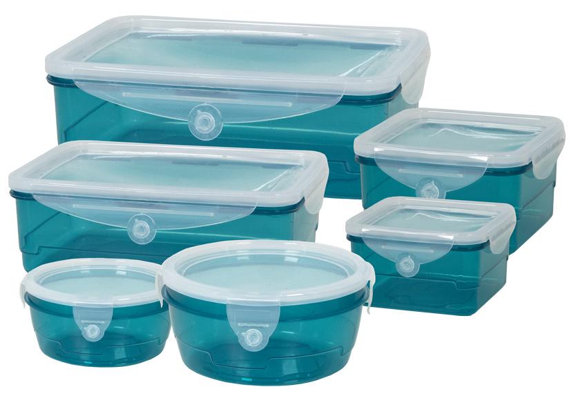 GENIUS IDEAS σετ δοχείων τροφίμων CleverBox 023070, 6 μεγέθη, μπλε - GENIUS IDEAS 30834