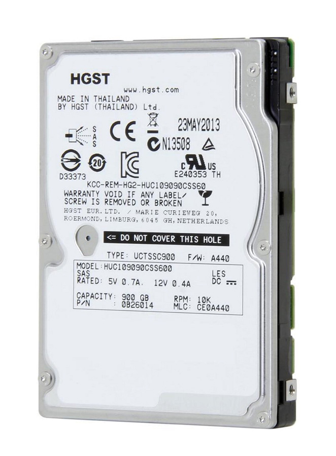 "HGST used SAS HDD 0B26014, 900GB, 10K, 2.5"", 64MB - HGST 22445"