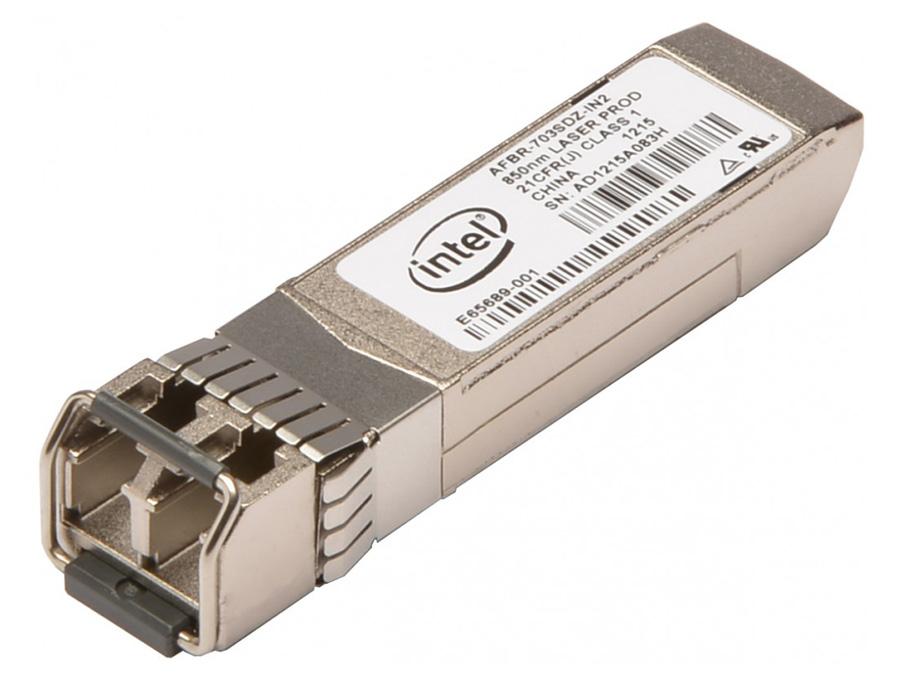 INTEL used Multi-mode Fiber SFP Dell 0R8H2F, 10GBase-SR, 300m - INTEL 15485