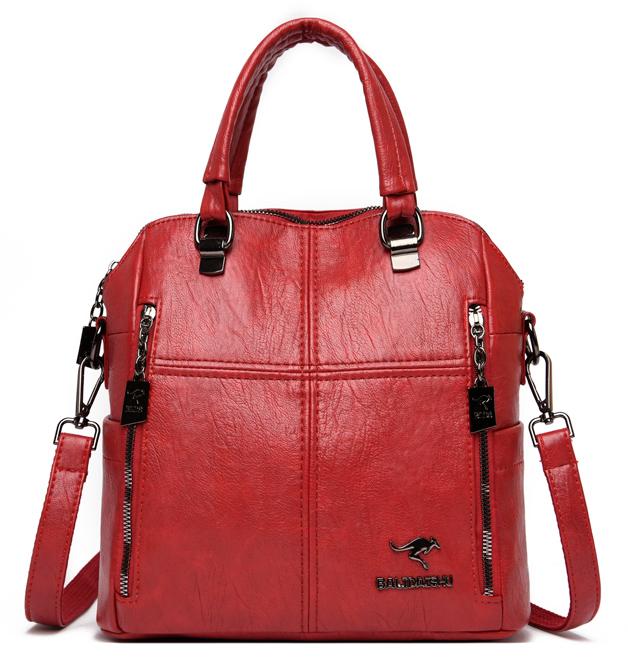 BALIDAISHU γυναικεία τσάντα ώμου 1317-RED, κόκκινη - BALIDAISHU 40196