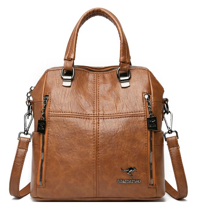 BALIDAISHU γυναικεία τσάντα ώμου 1318-BROWN, καφέ - BALIDAISHU 40197