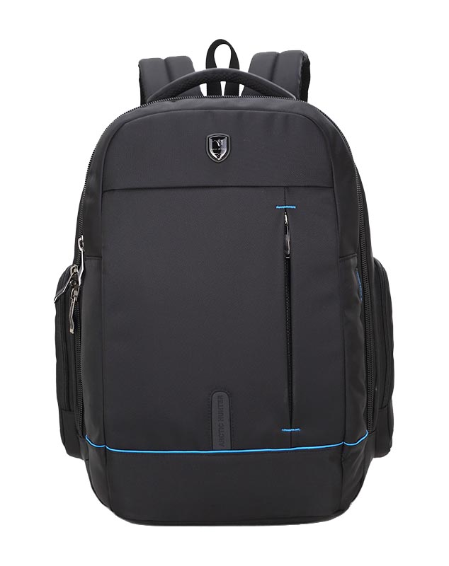 ARCTIC HUNTER τσάντα πλάτης 1500161-BK, laptop, αδιάβροχη, μαύρη - ARCTIC HUNTER 22833