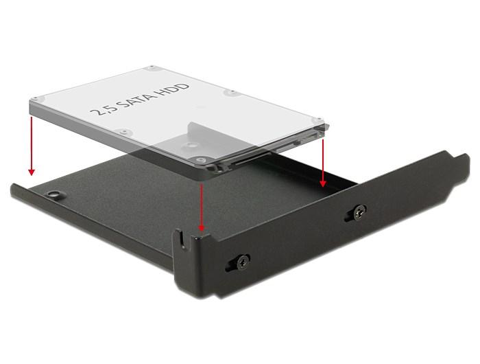 """DELOCK Tray μετατροπής από PC slot σε 1x 2.5"""" HDD bay - DELOCK 9228"""