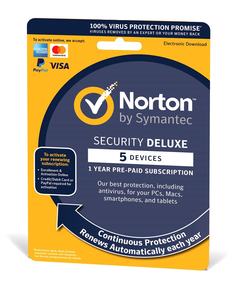 NORTON Security Deluxe 3.0, 5 συσκευές, 1 έτος, EU - NORTON 22755