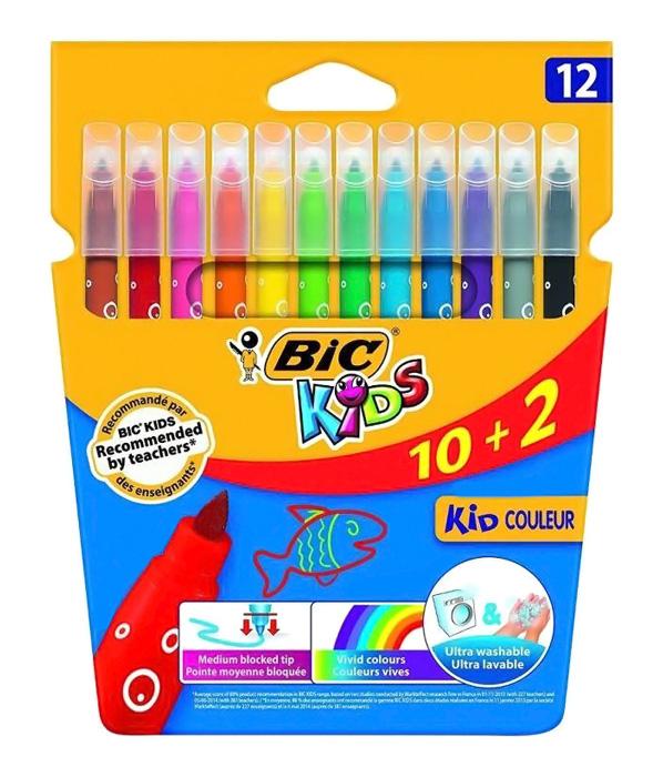 BIC σετ χρωματιστών μαρκαδόρων ζωγραφικής 216010322 KID Couleur, 12τμχ - BIC 29923