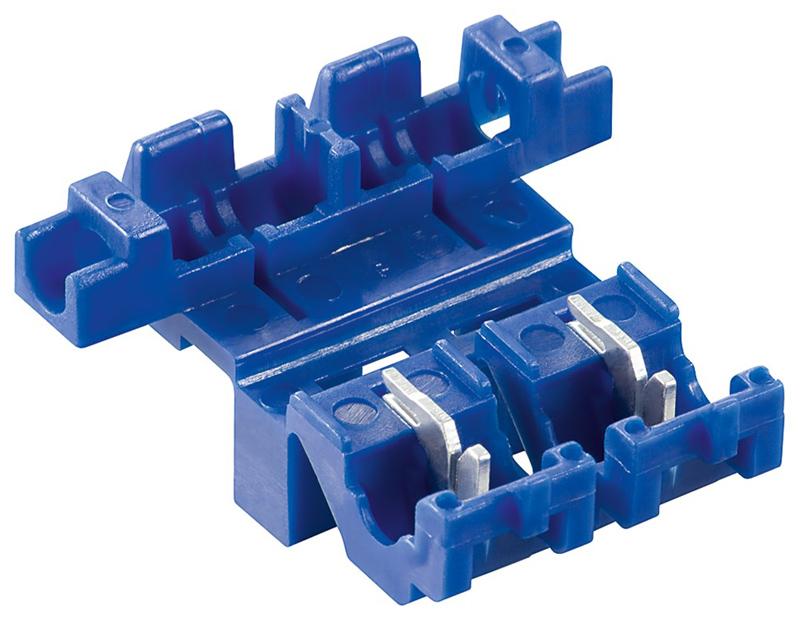 GOOBAY ασφαλειοθήκη μαχαιρωτών ασφαλειών 25529, max 20A, μπλε, 10τμχ - GOOBAY 42156