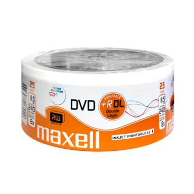 MAXELL DVD+R Double Layer, 8.5GB/240min, 8x speed, printable, Cake 25 - MAXELL 22137