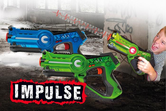 JAMARA Impulse laser set μάχης με ήχο, LED, δόνηση, 4 ρυθμίσεις όπλου - JAMARA 18580